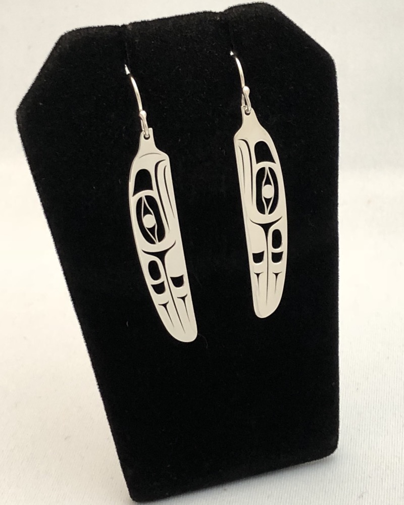 Silver Cut-Out Eagle Earrings<br />Grant Pauls