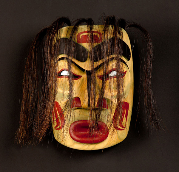 Wild Woman of the Woods Mask<br />Wilfred Sampson<br /><span class='sold'>SOLD</span>