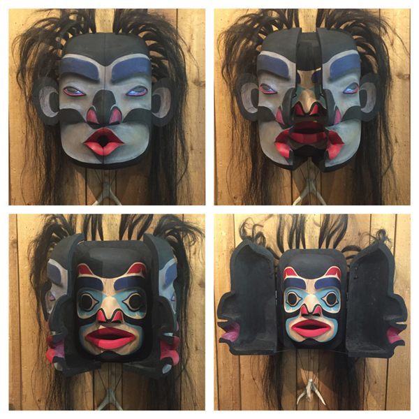 Wild Woman Transforming Mask<br />Roger Johnnie<br /><span class='sold'>SOLD</span>