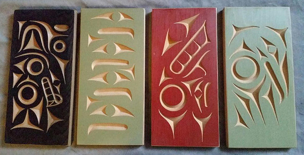 Wolf, Eagle, Whale & Raven Plaques<br />Noel Brown