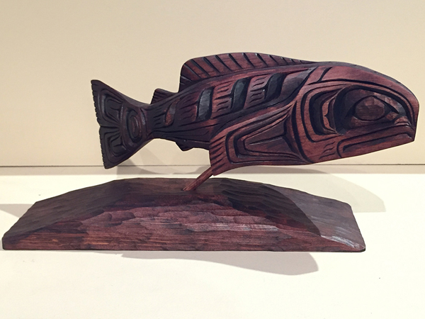 Salmon Carving<br />Gino Seward<br /><span class='sold'>SOLD</span>