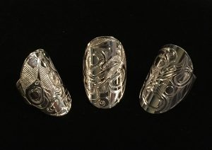 Silver Plaque Rings by Ralph Burgess