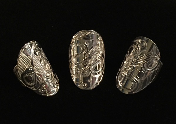 Silver Plaque Rings<br />Ralph Burgess