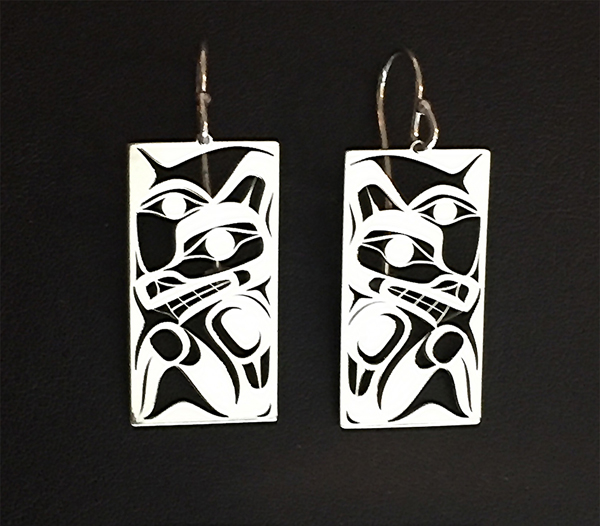 Silver Wolf Earrings<br />Grant Pauls