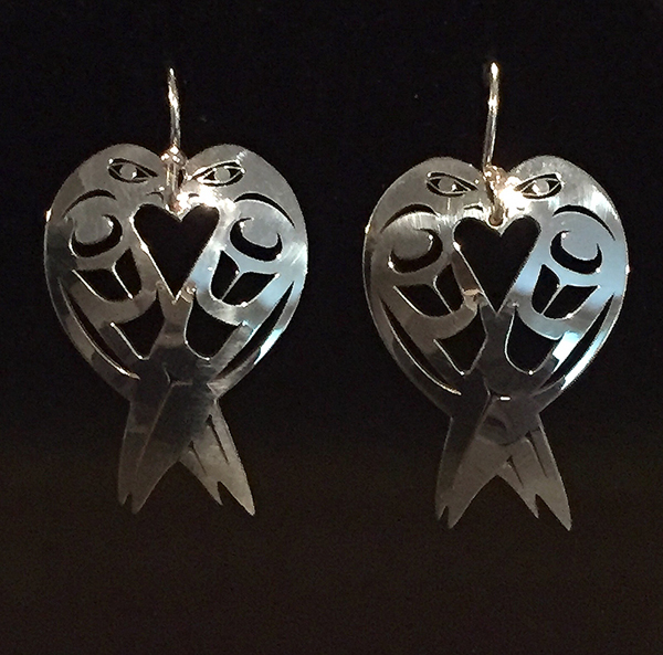 Silver Lovebird Earrings<br />Grant Pauls