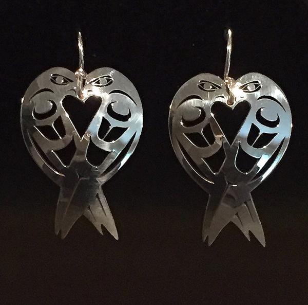 Silver Lovebird Earrings<br /></noscript>Grant Pauls