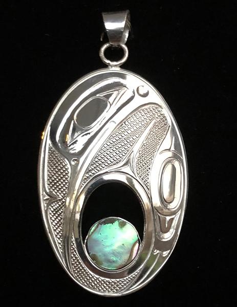 Silver Hummingbird Pendant<br />Ernest Swanson