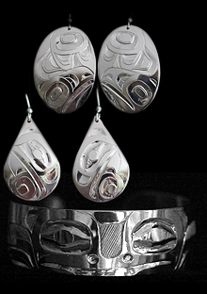 Silver Earrings & Bracelet<br />Alvin Adkins