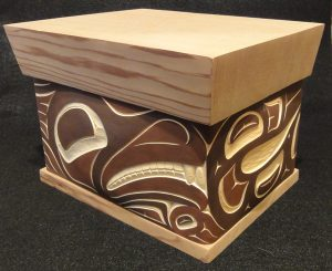 Whale & Eagle Box by Troy Bellerose