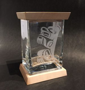 Glass Bear Box by Michael Forbes