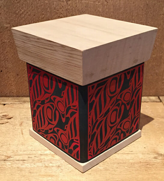 Silk Screened Salmon Box<br />James Michels