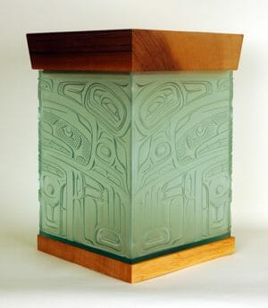 Glass Bentwood Box by Alano Edzerza