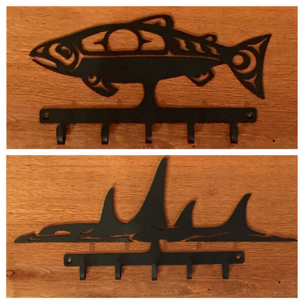 Salmon & Whale Key Hooks<br />