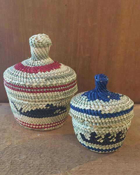 Hand woven baskets<br />Dorothy Shephard