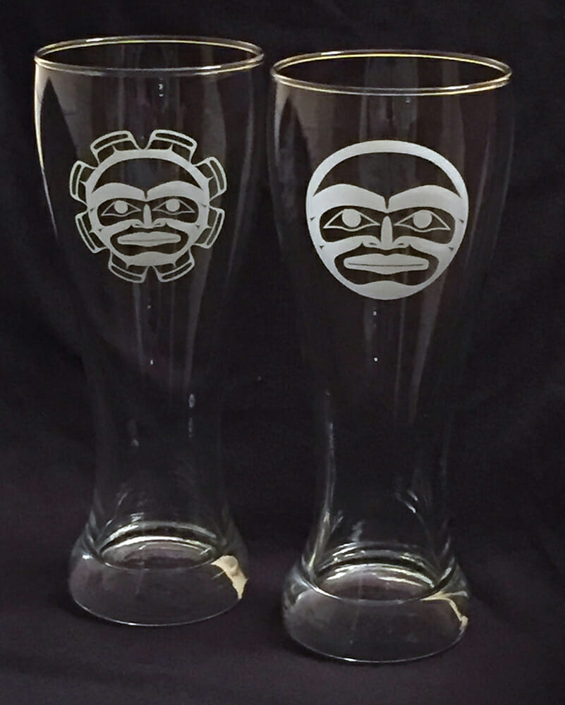 Sun & Moon Beer Glasses Designs by Klatle-bhi
