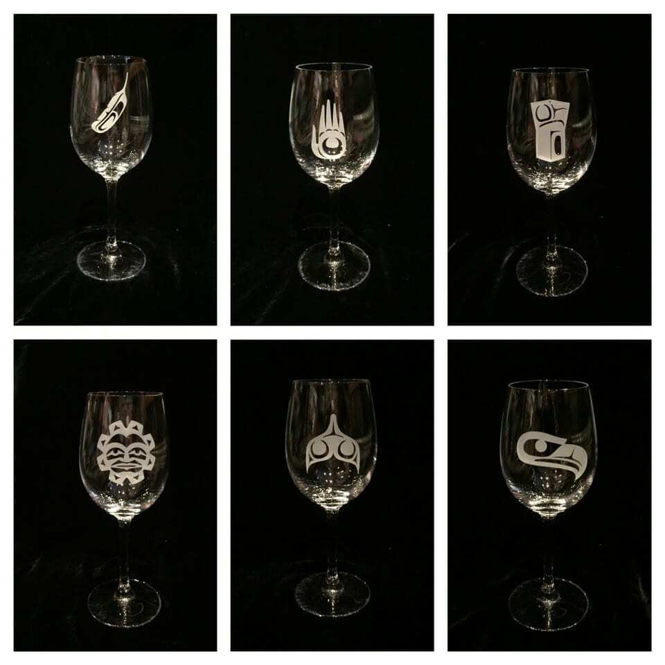 Stemmed Wine Glasses Designs by Klatle-bhi