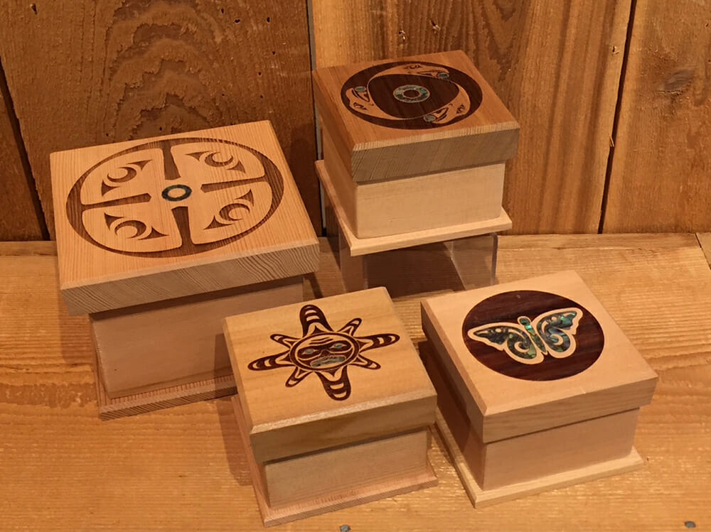Bentwood Boxes by Shain Jackson