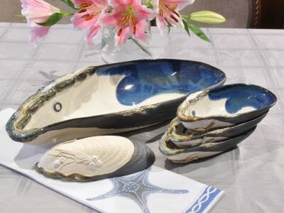 Mussel Pottery Set by Mussels & More