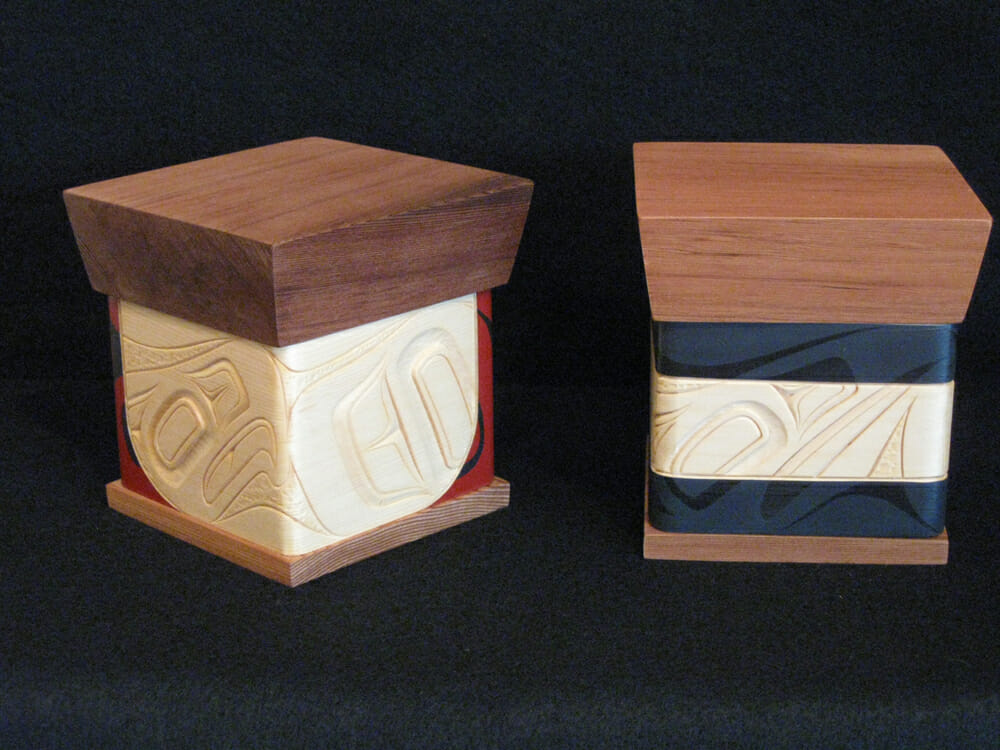 Eagle Bentwood Box & Raven Bentwood Box<br />James Michels