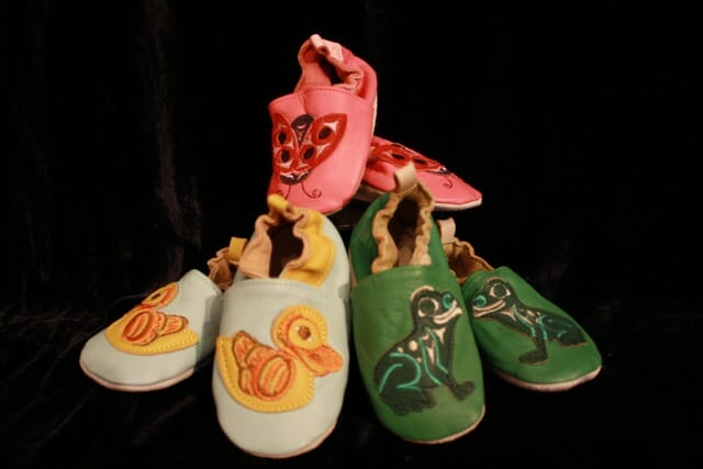 Children's Moose Hide Mocassins