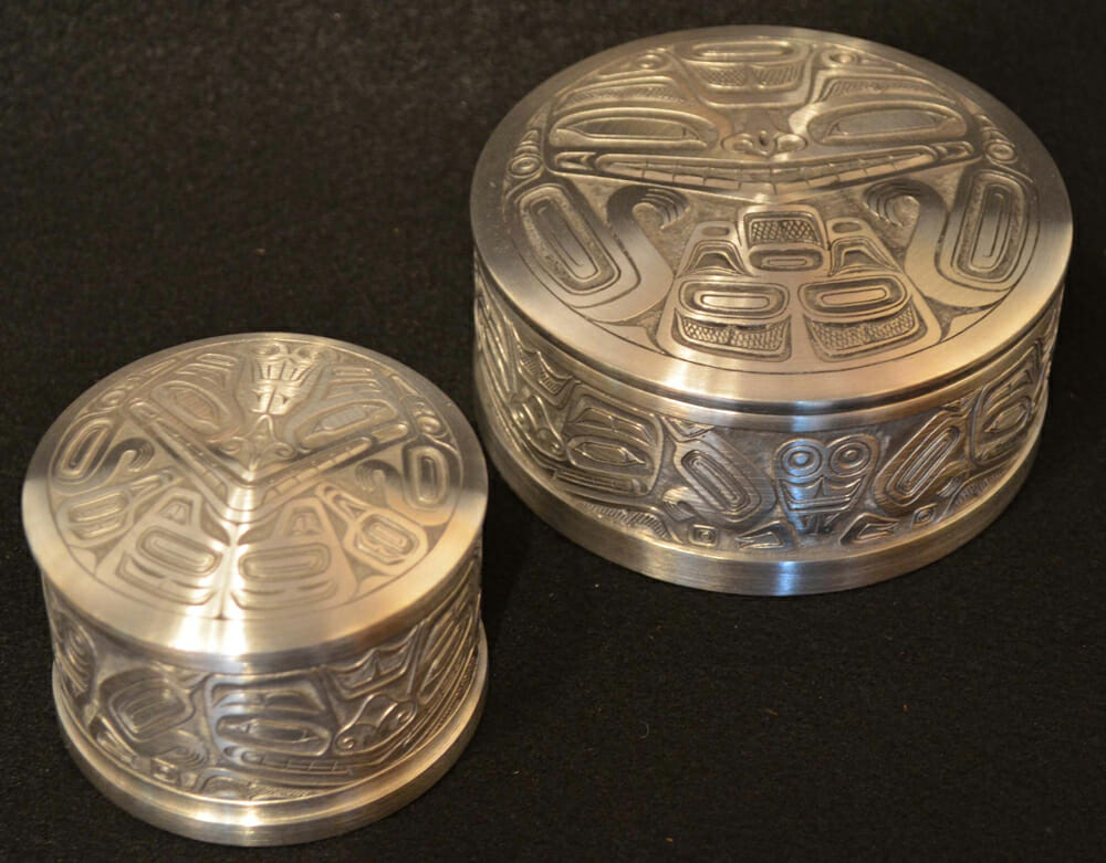 Bear Pill Boxes pewter