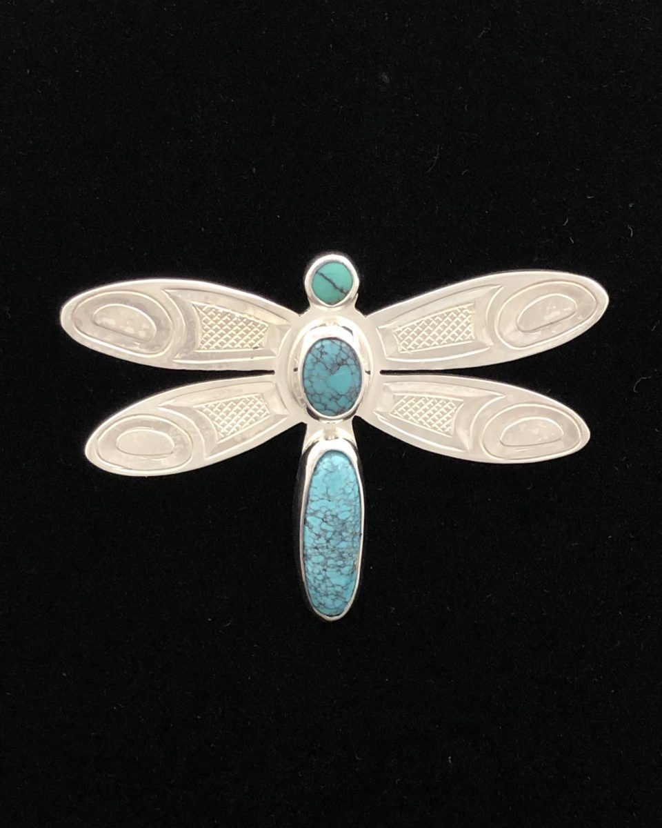 Dragonfly Pendant with Turquoise<br />Justin Rivard