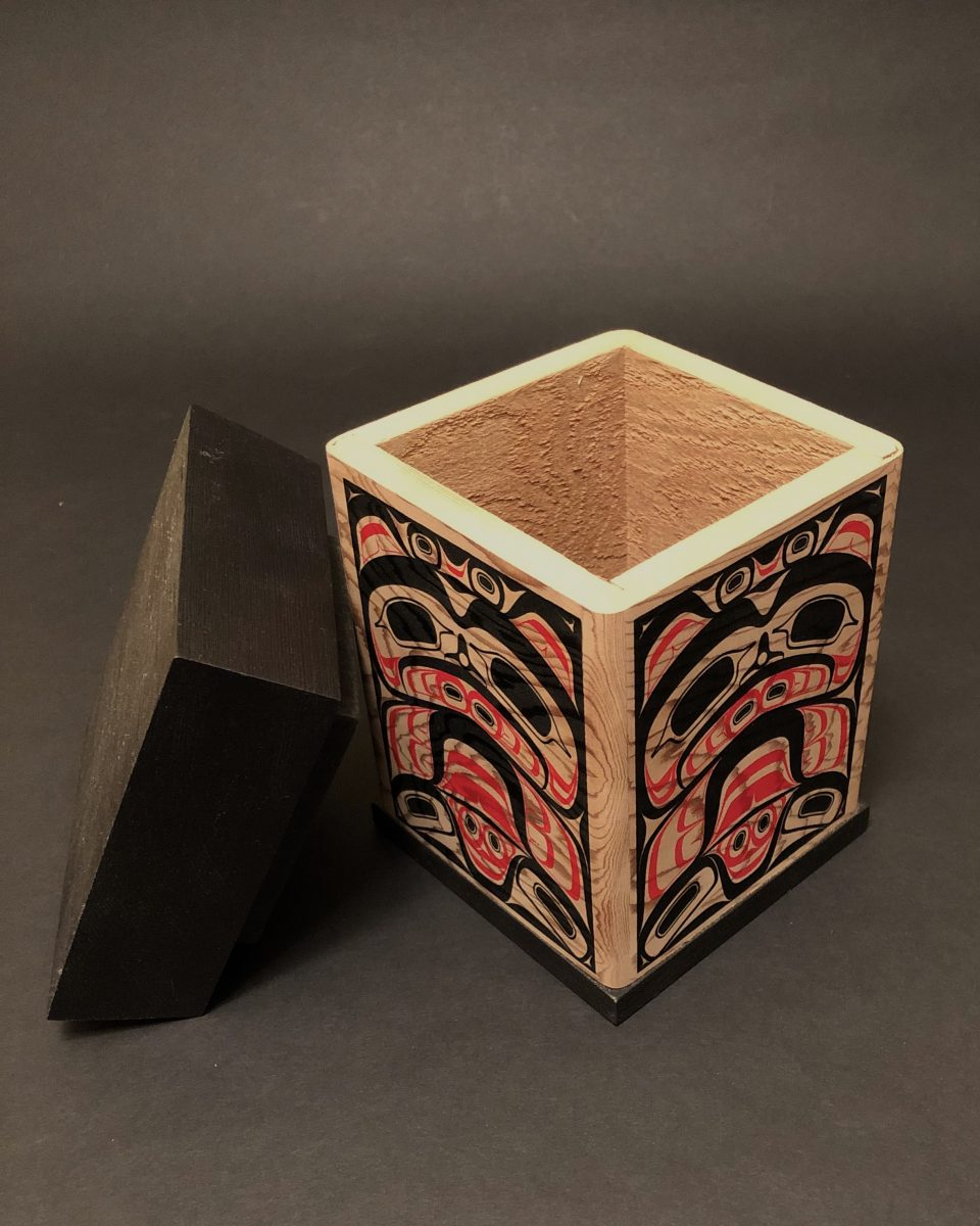 Silkscreen Bear Bentwood Box<br />James Michels